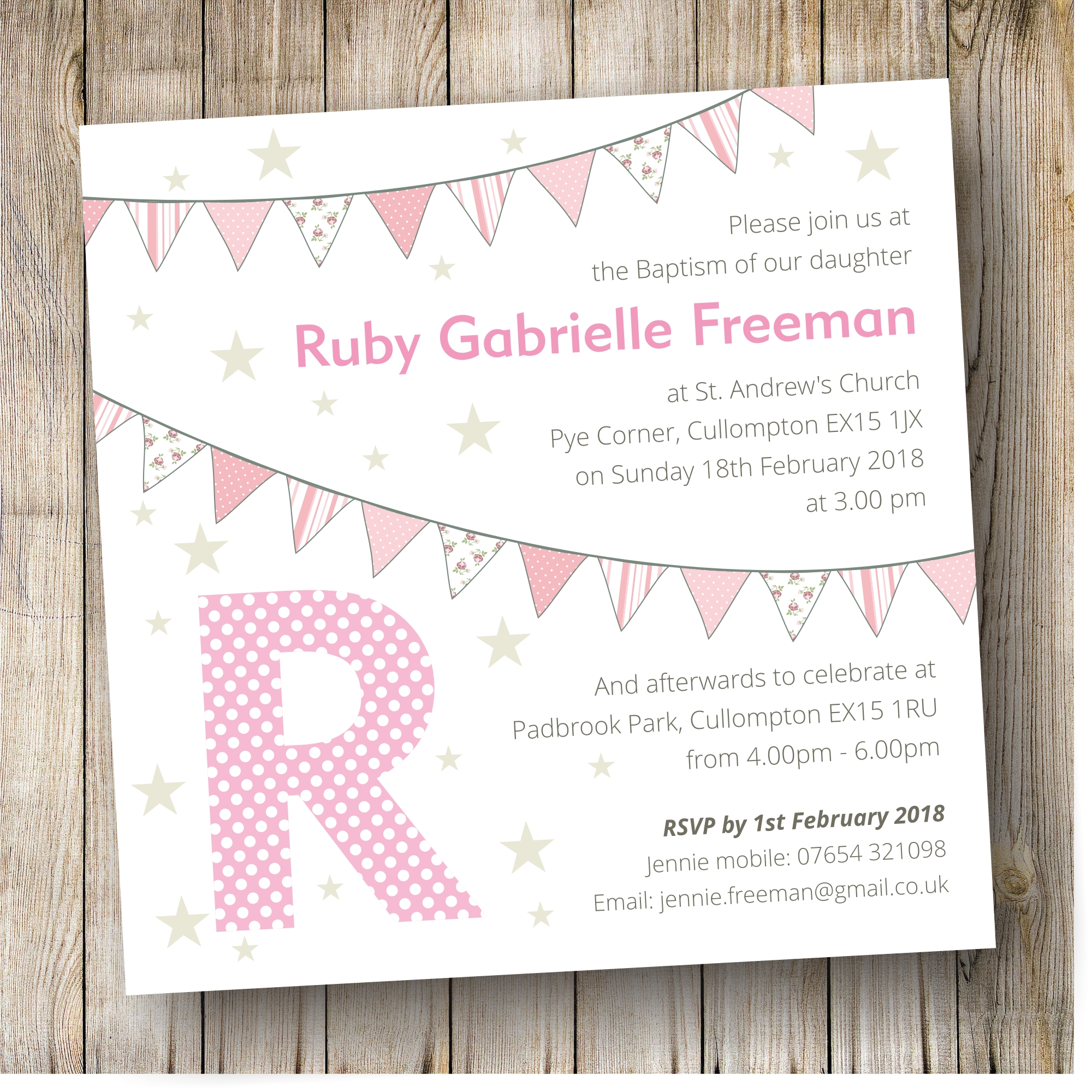 Pack of 10 The Card Gallery Christening Invitations Boys Church /& Bunting